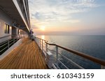luxury cruise ship deck at... | Shutterstock . vector #610343159