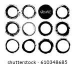 set of grunge circles.vector... | Shutterstock .eps vector #610348685