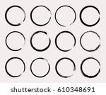 set of grunge circles.vector... | Shutterstock .eps vector #610348691