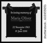 funeral frame. elegant mourning ...   Shutterstock .eps vector #610355051