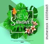 summer background tropical... | Shutterstock .eps vector #610356665