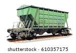 the railway hopper car for the... | Shutterstock . vector #610357175