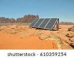 a solar panel used by bedouins... | Shutterstock . vector #610359254