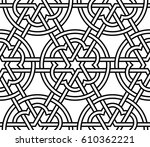 islamic round pattern. seamless ... | Shutterstock .eps vector #610362221