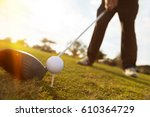 Close Up Of Golf Ball Before A...