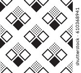 seamless pattern with squares.... | Shutterstock .eps vector #610368941