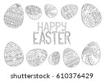 Happy Easter Vector Coloring...