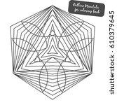 outline mandala for coloring... | Shutterstock .eps vector #610379645