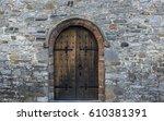 Solid Castle Wooden Door Arch...