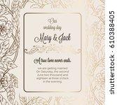 antique baroque luxury wedding...   Shutterstock .eps vector #610388405