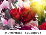 colorful floral background | Shutterstock . vector #610388915