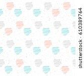 handmade line seamless pattern...   Shutterstock .eps vector #610389764