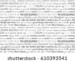 english slogans on the wall.... | Shutterstock .eps vector #610393541