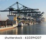 Harbor Cranes Unloading...
