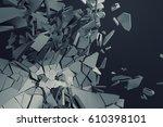 abstract 3d rendering of... | Shutterstock . vector #610398101