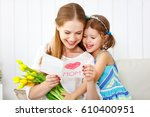 happy mother's day  child... | Shutterstock . vector #610400951
