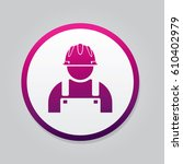 engineer icon. flat isolated... | Shutterstock .eps vector #610402979