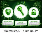 digital technology concept of... | Shutterstock .eps vector #610410059