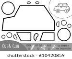 education paper game for... | Shutterstock .eps vector #610420859
