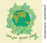 mother earth day  22 april....   Shutterstock .eps vector #610425647