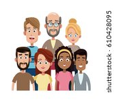 happy family icon | Shutterstock .eps vector #610428095