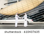 arabic businessmen in dubai   Shutterstock . vector #610437635