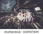 arabic businessmen in dubai   Shutterstock . vector #610437644
