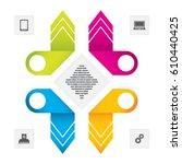 business data concept.modern... | Shutterstock . vector #610440425