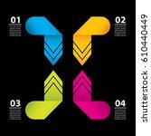 business data concept.modern... | Shutterstock . vector #610440449