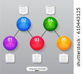 vector infographic elements.... | Shutterstock .eps vector #610443125