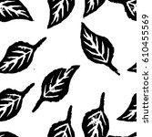 Seamless Botanic Pattern. Blac...