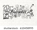 digital composite of business... | Shutterstock . vector #610458995