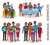 afro american or aframerican... | Shutterstock .eps vector #610464155