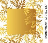 hand drawn pattern with golden...   Shutterstock .eps vector #610467137