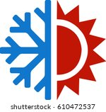 heating and cooling | Shutterstock .eps vector #610472537