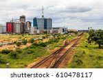railroad and rapidly developing ... | Shutterstock . vector #610478117
