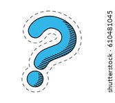 blue question mark image vector ... | Shutterstock .eps vector #610481045