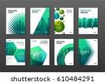 corporate brochure cover design ... | Shutterstock .eps vector #610484291