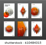 brochure cover design layouts... | Shutterstock .eps vector #610484315