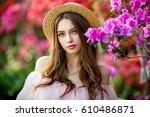 close up portrait of a... | Shutterstock . vector #610486871