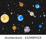 planets of the solar system.... | Shutterstock .eps vector #610489424