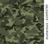 vector seamless pattern.... | Shutterstock .eps vector #610493789