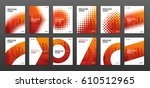 brochure cover design layout... | Shutterstock .eps vector #610512965