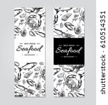 seafood banner vector template... | Shutterstock .eps vector #610514351