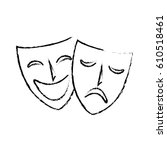 mask teather isolated icon   Shutterstock .eps vector #610518461