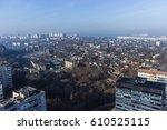 bird view over city. city... | Shutterstock . vector #610525115