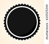 isolated black label on a white ... | Shutterstock .eps vector #610525244