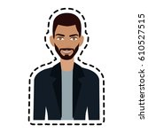 handsome young man icon image  | Shutterstock .eps vector #610527515