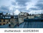 detail of typical paris... | Shutterstock . vector #610528544