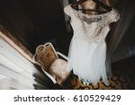 wedding dress embroidered with